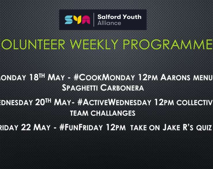 This weeks SYA Programme